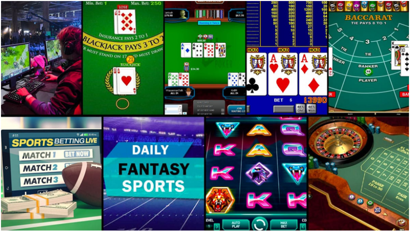What games you can play in online casinos?